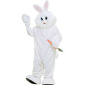 adult White Bunny Rabbit Mascot Costume Deluxe