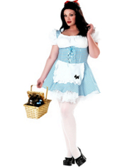 Plus Size Wizard of Oz Miss Dorothy Costume Adult