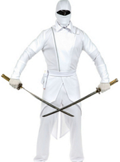 Teen Boys GI White Ninja Costume