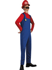 Super Mario Brothers Mario Costume Teen Boys