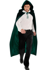 Green Hooded Cape Adult