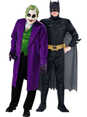 The Joker and Dark Knight Batman Muscle Couples Costumes