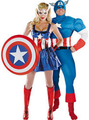 American Dream and Captain America Couples Costumes