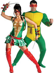 Sassy Teenage Mutant Ninja Turtles and Deluxe Raphael Couples Costumes