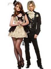 Steampunk Sweetie and Sir Steampunk Couples Costumes