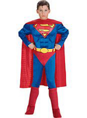 Superman Muscle Costume Boys