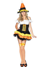 Candy Corn Witch Costume Adult