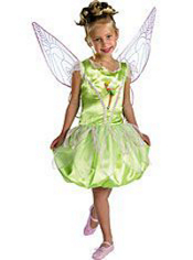 Tinker Bell Costume Girls Deluxe