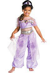Purple Jasmine Costume Girls Deluxe