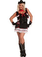 Plus Size Dirty Desperado Cowgirl Costume Adult