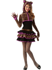 Leopardess Costume Girls
