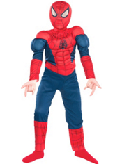 Classic Spider-Man Muscle Costume Boys