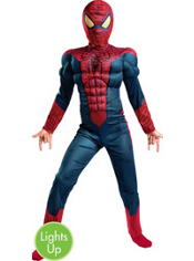 Light-Up Spider-Man Muscle Costume Boys