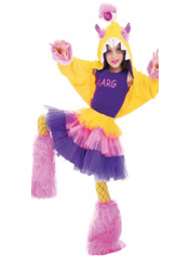 Flashy Fierce Monster Costume Girls Deluxe