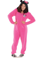 Minnie Mouse One Piece Pajama Adult