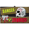Vacuform Danger Zombies Sign