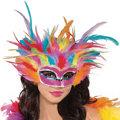 Rainbow Feather Mask