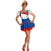 Classic Blue Hello Kitty Costume Adult