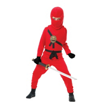 Red Ninja Avenger Costume Boys