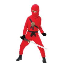 Red Ninja Avenger Costume Boys