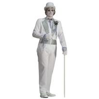 Adult Victorian Ghost Groom Costume