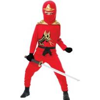 Boys Red Ninja Avenger Costume Deluxe